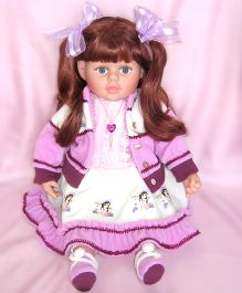 Baby Steps Jack N Jill Girl Doll Purple - Height 24 Inches