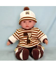 Baby Steps Jack N Jill Happy Baby Doll - Dark Brown