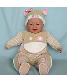 Baby Steps Jack N Jill Happy Baby Doll - Light Brown