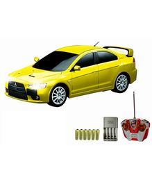 Auldey - Mitsubishi Evo X Yellow Car Toy