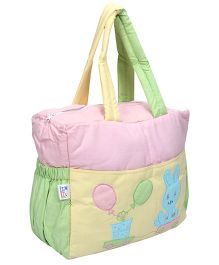 Duck Mother Bag With Bib And Bottle Pouch - Balloon And Rabbit Patch