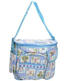 Duck Mother Bag Blue - Baby Print