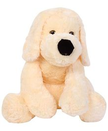Dimpy Stuff Soft Toy Dog - Cream
