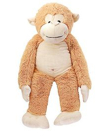 Dimpy Stuff Cuddly Light Monkey With Loose Legs Soft Toy - Height 77 cm