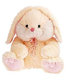 Dimpy Stuff Cuddly Teddy Bear With Ribbon Light Brown - Height 49 cm