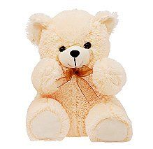 Dimpy Stuff Cream Small Master Bear Soft Toy - 27 cm