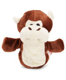 Dimpy Stuff Monkey Hand Puppet Brown Cream - 25 cm
