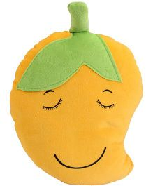 Dimpy Stuff Soft Mango Fruit Cushion - Yellow