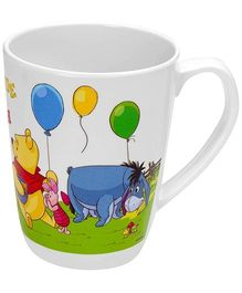Winnie The Pooh Print Cute Mug - White