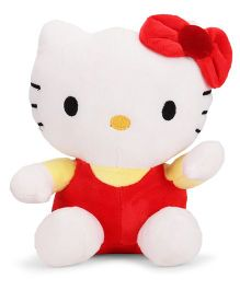 Dimpy Stuff Hello Kitty Soft Toy Red And White - 18 cm