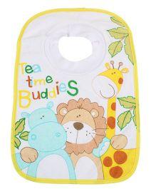 Mee Mee Baby Bib Tea Time Buddies Print - Yellow