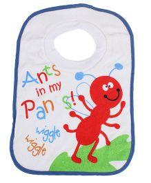 Mee Mee Baby Bib Ants In My Pan - Blue