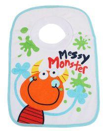Mee Mee Baby Bib Messy Print - Sky Blue