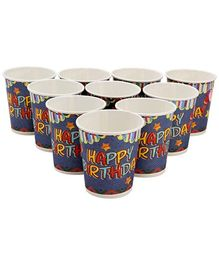 Karmallys Printed Paper Cups Happy Birthday Star Print - 200 ml