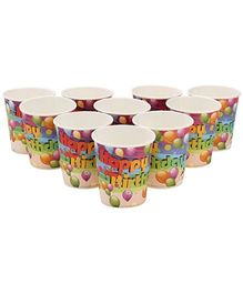 Karmallys Printed Paper Cups Balloon Print - 200 ml