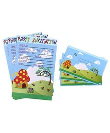 Karmallys Kids Party Invitation Pack - Nature Print