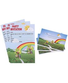 Karmallys Kids Party Invitation Pack - Nature Rainbow Print