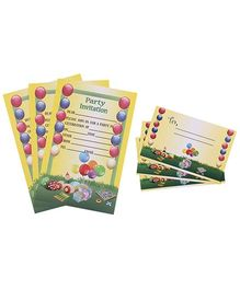 Karmallys Kids Party Invitation Pack - Balloons Print