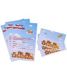 Karmallys Kids Party Invitation Pack - Bear Print