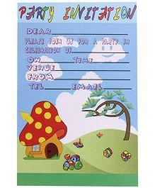 Karmallys Kids Party Invitation Pad - Nature Print