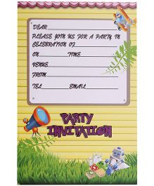 Karmallys Kids Party Invitation Pad - Line Print