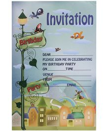 Karmallys Kids Party Invitation Pad - Bear Print