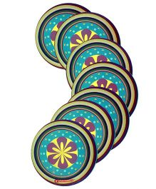 Karmallys Reusable Laminated Coasters - Floral Print