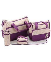 Fab N Funky Fancy Mother Bag - Purple