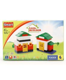 Peacock Little Builder Smart Blocks - Multi Color