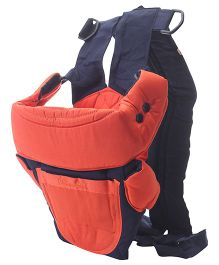 3 Way Baby Carrier - Orange and Navy