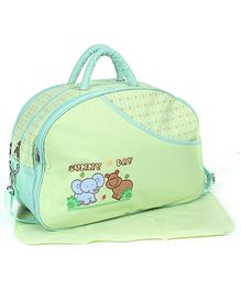 Fab N Funky Mother Bag With Diaper Changing Mat - Elephant Print