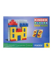 Peacock Kinder Blocks - Brick Mosaic Set
