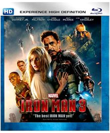 Marvel Iron Man 3 English - Blu Ray Disc