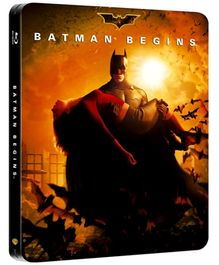 DC Comics Batman Begins Steel Book - Blu Ray Disc