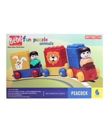 Peacock Bebe Blocks - Fun Puzzle Animals