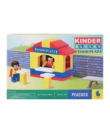 Peacock Kinder Blocks Food Plaza - Multi Color