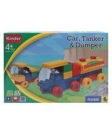 Peacock Kinder Blocks - Car, Tanker & Dumper Set