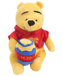 Disney Pooh With Honey Pot Soft Toy - 10 Inch
