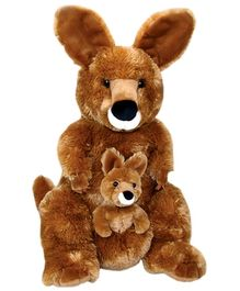 Animal Planet Mommy Kangaroo With Baby Soft Toy