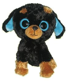 Animal Planet Little Kingdom Black And Brown Dog Soft Toy - 10 Inches