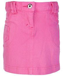 FS Mini Klub Pink Cotton Twill Skirt - 128 cm