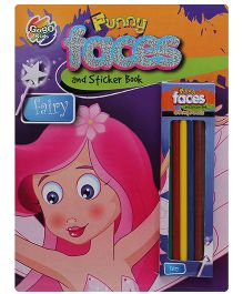 Chitra Pogo Mad Funny Faces And Sticker Book - Fairy