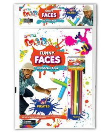 Chitra Pogo Mad Funny Faces And Sticker Book - Pirates