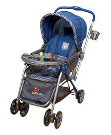 Sunbaby Stroller Stripe Collection Blue - SB 200A