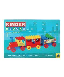 Peacock Kinder Blocks Junior Train Set - Multi Color
