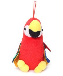 Tickles Red Parrot With Multi Colored Wings - Hangable Plush Toy