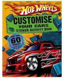 Harper Collins Hot Wheels Customise Your Cars Sticker Activity Book - 60 Stickers