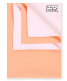 Babyhug Smart Dry Bed Protecting Sheet Peach - Small