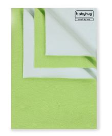 Babyhug Smart Dry Bed Protector Sheet Green - Medium