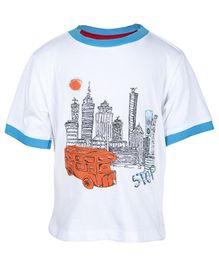 Nauti Nati Half Sleeves Printed Round Neck T-Shirt